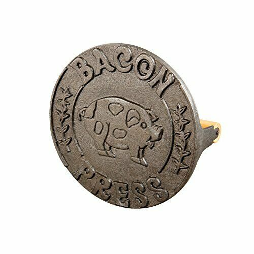 Bacon Flat Press and Steak Weight Heavyweight Cast Iron with