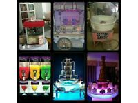 CANDY FLOSS HIRE POPCORN SLUSH MACHINE CHOCOLATE FOUNTAIN SWEET CART LOVE SIGN WEDDING LETTER HITE