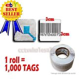 1000 PCS CHECKPOINT® BARCODE SOFT LABEL TAG 8.2  3X3 cm