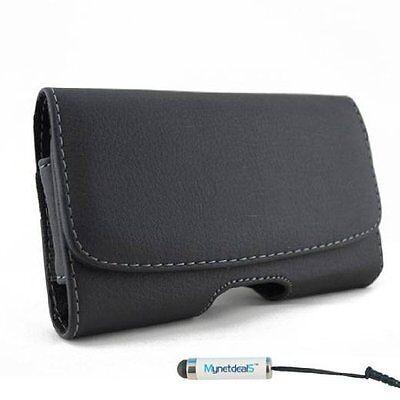 Apple iPhone 6 S Plus Horizontal Leather Case Pouch Belt Clip Magnetic Closure - Apple Iphone Horizontal Pouch