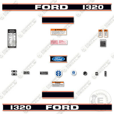 Ford 1320 Decal Kit Tractor - 7 Year 3m Vinyl Decal W Warning Safety Stickers