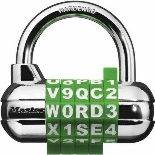 Master Lock  / 1534D Password Plus / Combination Lock Padlock / Assorted Colors