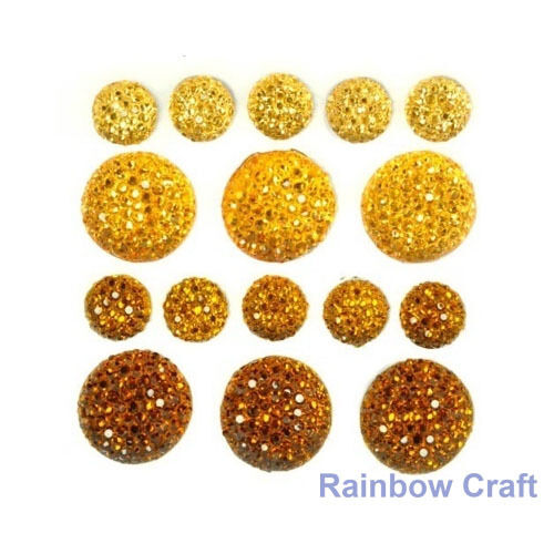 kaisercraft Bling Sparklets / Self Adhesive Rhinestones crystal ebony hearts - Daffodil