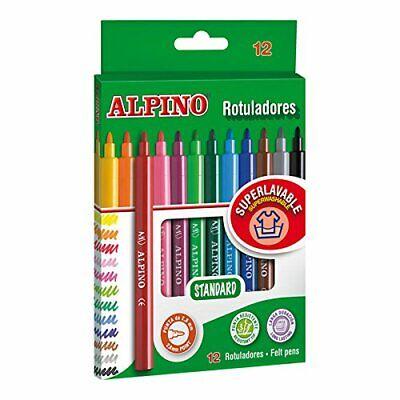 Alpino Pack de 12 rotuladores, colores Super lavables