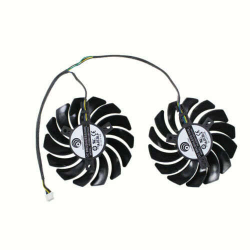 87mm MSI ARMOR RX570 RX580 Dual Fan Replacement 40mm 4Pin PLD09210B12HH 0.4A
