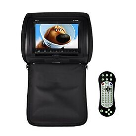 Twin Pyle Headrest DVD Player Video Monitor 7-Inch Wide Screen With , USB /SD Readers,