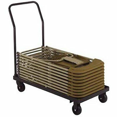 National Public Seating Dy700 800 Folding Chair Storage Cart