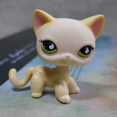 Raindrop Eyes Cream Yellow Cat  733  Lps Action Figure Littlest Pet Shop