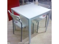 IKEA White Dining Table and Chairs