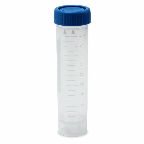 50ml Centrifuge Tube, Blue Cap, Skirted, No-Leak (Case 500)