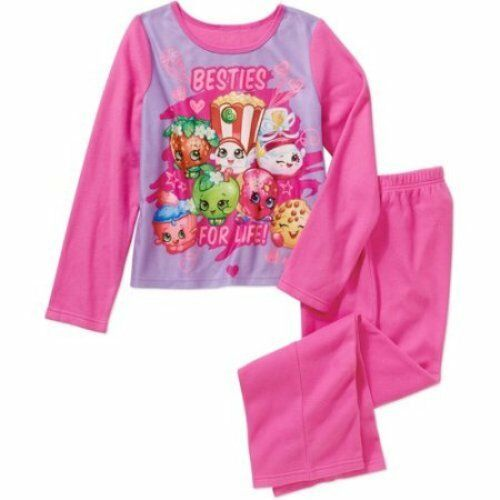 Shopkins Girls Flannel Flame Resistant Pink 2-pc Sleepwear Set ...
