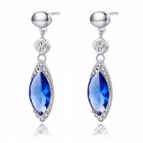 Dark Blue Sapphire Earrings Ebay