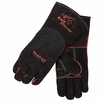 Black Stallion Select Shoulder Split Welding Gloves Wbackpatch Medium 20286