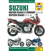 Suzuki Bandit Workshop Manual