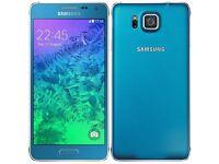 Blue Samsung S5 alpha