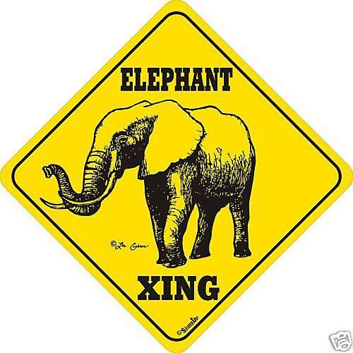 Elephant Xing Sign