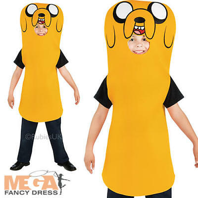 Jake The Dog Boys Fancy Dress Adventure Time Cartoon Character Kids Costume