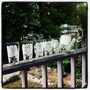 Vintage Glass Pitcher Set