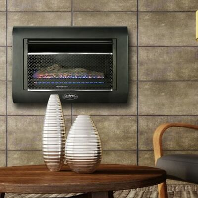 Duluth Forge DF300L Ventless Linear Wall Gas Fireplace - 26,000 BTU, T-STAT