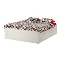 Ikea Brimnes White Double Bed