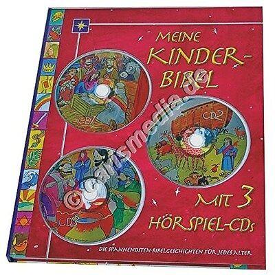 MEINE KINDER-BIBEL - Buch & 3 Hörspiel-CDs - über 240 Min. Spielzeit *TOP* °CM° (Bibel-spiel Kinder)