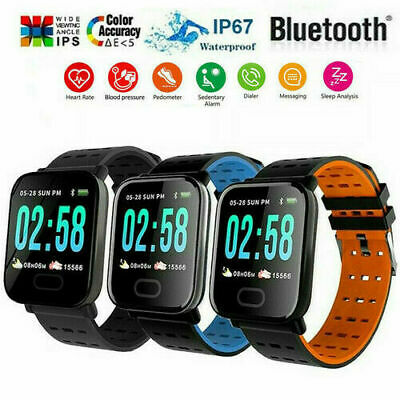 Bluetooth Smart Watch Blood Pressure Heart Rate Monitor Fitn