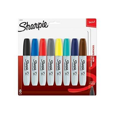 Sharpie Permanent Markers Broad Chisel Tip 8-pack Assorted 2015 Colors