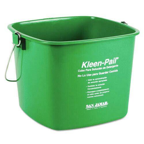 San Jamar KP196GN 12-Pc./Ct. Plastic 6 qt. Kleen-Pails - Green New