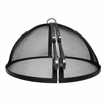 """60"""" 304 Stainless Steel Hinged Round Fire Pit Safety Screen"""