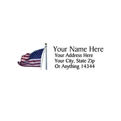 Flag Design 2 Personalized Address Labels 30pcs Free Us Shipping