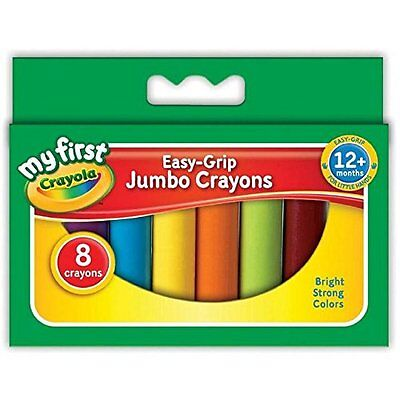 Crayola Easy-Grip Jumbo Crayons - Pack of 8 Bright Stron Colours