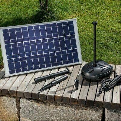 25 Watt Solar Pump Set Rome Pump Garden Pond Water Element Fountain New