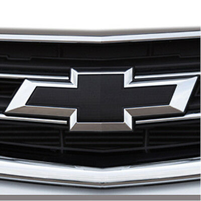 2014-2018 Chevrolet Impala Genuine GM Front & Rear Black Bowtie Emblems 23287538