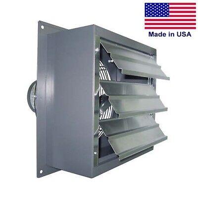 Wall Exhaust Fan - 360 Cfm - 140 Hp - 8 Fan Diameter - 115 Volts - 2 Speed