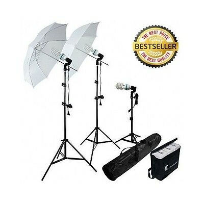 Photo Lighting Kit Video Studio Photography 2000w Bulb Light Stand Umbrella Set