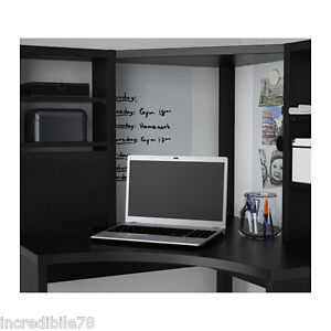 Ikea micke mobile studio angolare marrone nero scrivania for Arredo studio ikea
