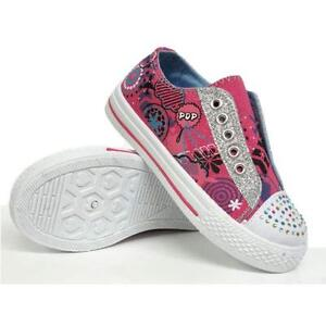 GIRLS HI TOPS TRAINERS INFANTS KIDS FANCY CANVAS ANKLE HIGH TOP BO