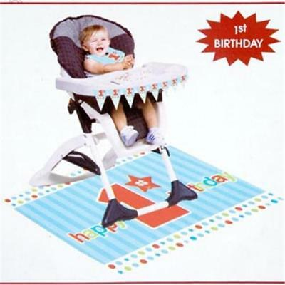Boy High Chair Kit - 3-piece 1st Birthday Boy High Chair Kit Happy Birthday Deocration~~RE9