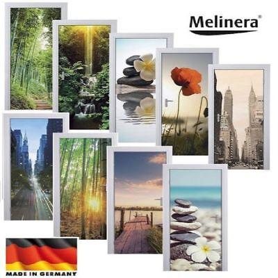 Tür-dekoration (MELINERA ® Tür Dekofolie 98 x 204 New York Bambus Folie Türtapete Deko NEU OVP)