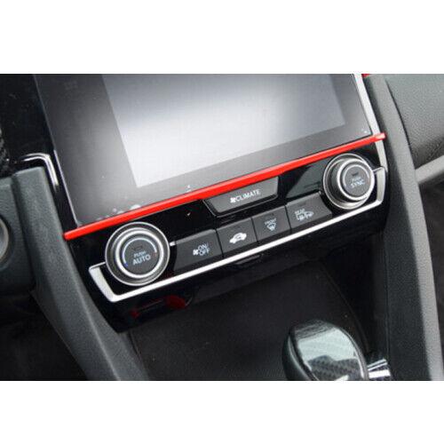Red Adhesive Decorative Gear Box Sticker For Honda Civic 10th 2016-2018 Interior