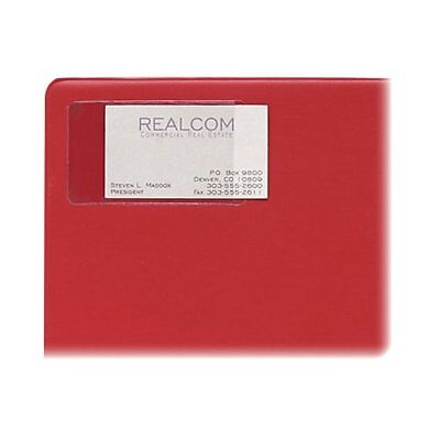 C-line Business Card Holder - Vinyl - 10 Pack - Clear Cli70238