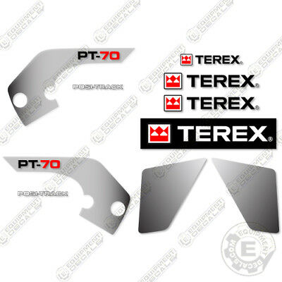 Terex Pt70 Decal Kit Skid Steer Sticker Replacements Pt 70