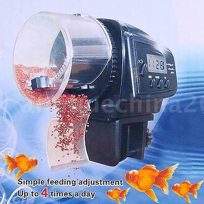 Mini Digital Automatic Auto Aquarium Fish Food Feeder Container Dispenser US
