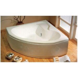 Vasca da bagno termoformata ad angolo 140x140 cm con telaio e pannello  eBay