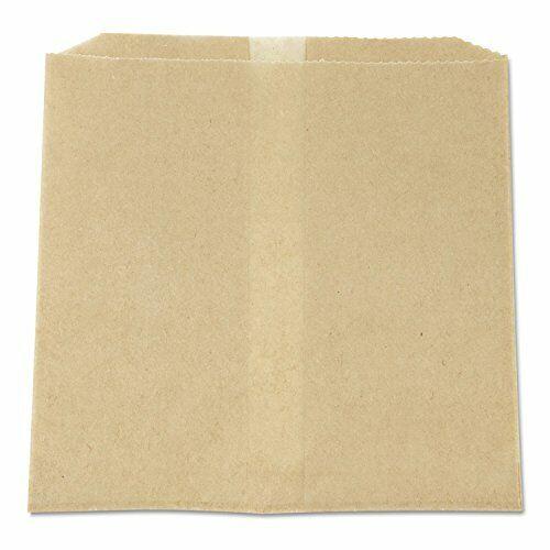 "Hospeco Napkin Receptacle Paper Liner, Kraft Waxed Paper, 8"" x 7"" x 8"", 500"