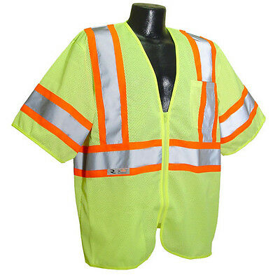 Radians SV22-3ZGM Lime Green Economy Class 3 Two-Tone Safety Vest *Free US Ship* Business & Industrial