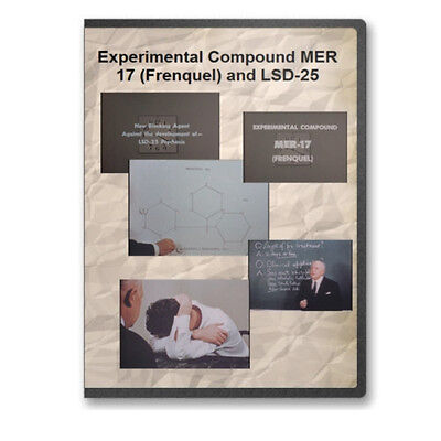 CIA 1950s Experiments Experimental Compound MER 17 Frenquel and LSD DVD C799