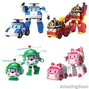 Robocar transformer robots authentic poli roi heli amber - Robot car polly ...