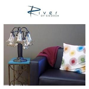 NEW TIFFANY STYLE 7-ARM TABLE LAMP MERCURY GLASS - SILVER - HOME - LIGHTING - DECORATION 88577707
