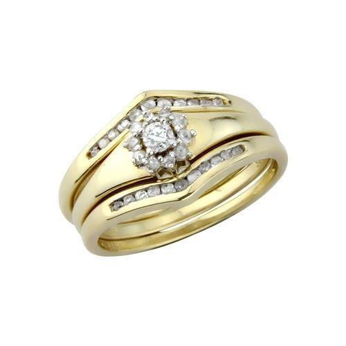 9ct gold wedding ring sets ebay for Wedding ring sets uk